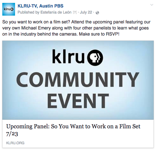 KLRU film panel
