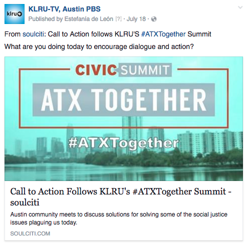 KLRU ATXTogether action
