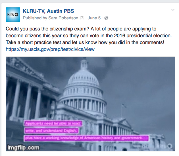 KLRU citizenship