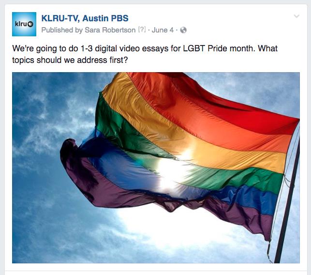KLRU LGBT topics