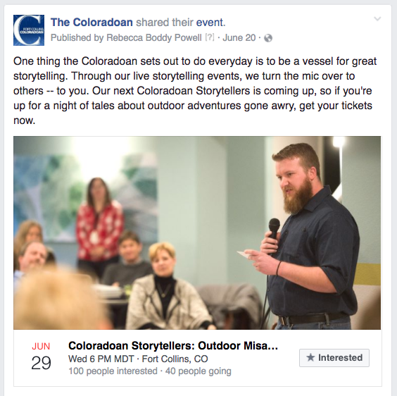 CO storytelling event