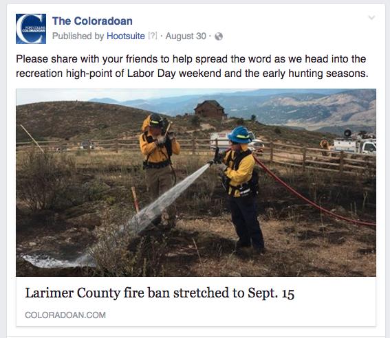 CO fire ban