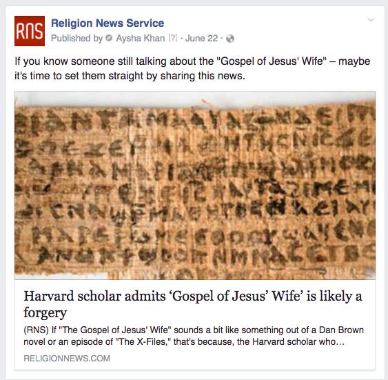 RNS Jesus wife