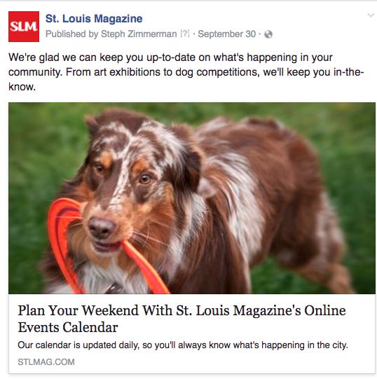 STL online calendar dog