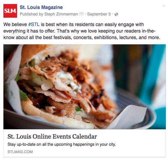 STL online calendar food