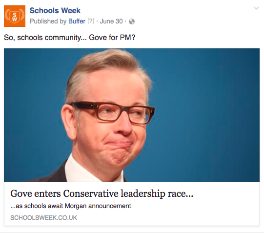 SW Gove for PM