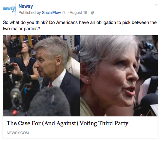Newsy third parties