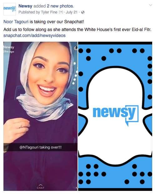 Newsy Snapchat White House
