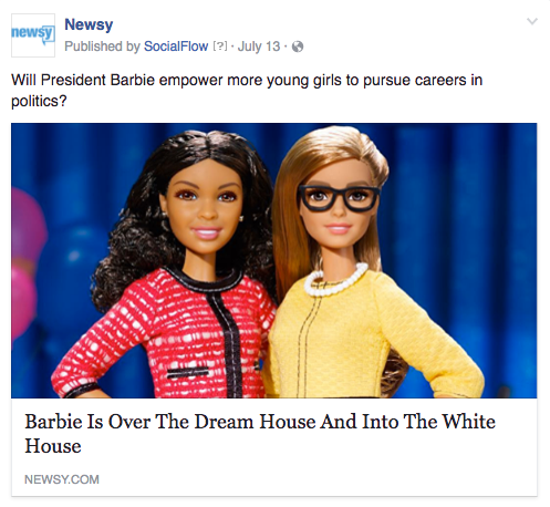 Newsy President Barbie