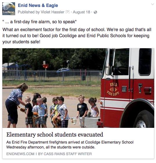 Enid evacuation