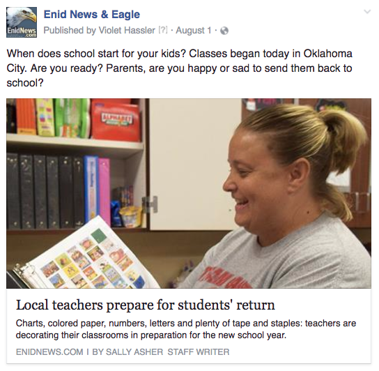 Enid school starting