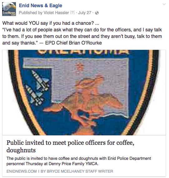 Enid police doughnuts