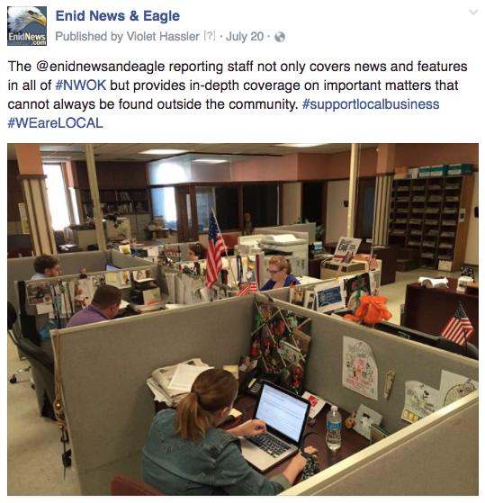 Enid newsroom pic