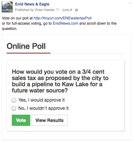 Enid online poll