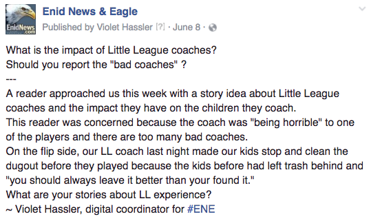 Enid little league