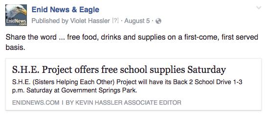Enid school supplies