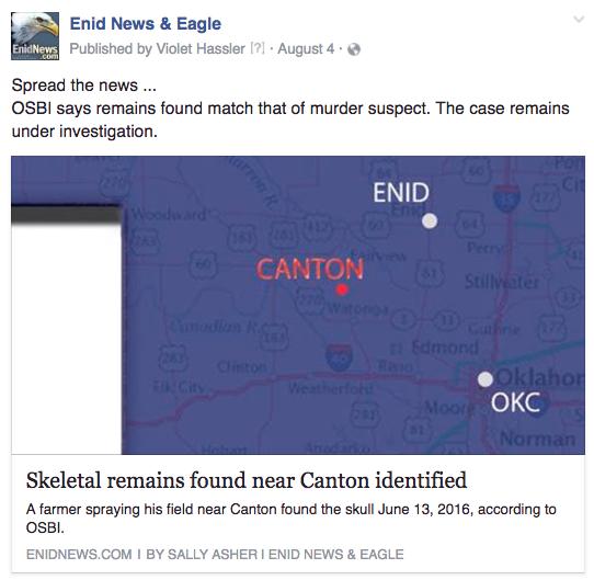Enid murder suspect