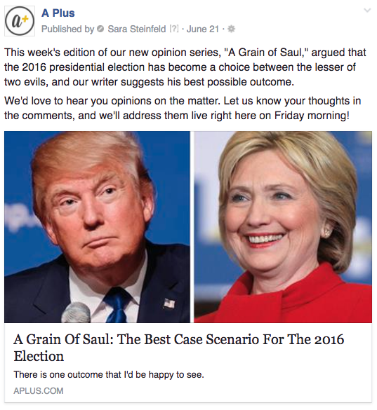 A Plus Saul election crowdsourcing