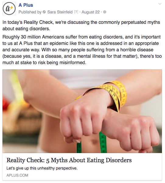 A Plus eating disorders