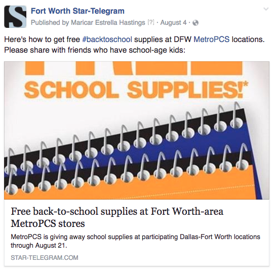 FW free school supplies