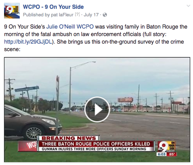WCPO Baton Rouge reporter