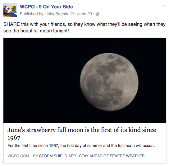 WCPO strawberry moon