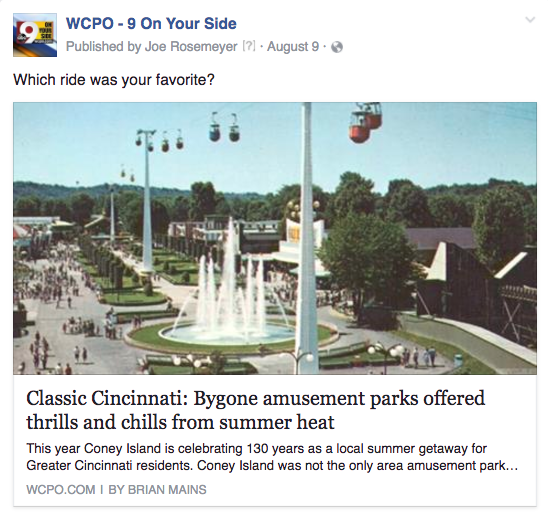 WCPO amusement parks