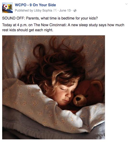 WCPO bedtime