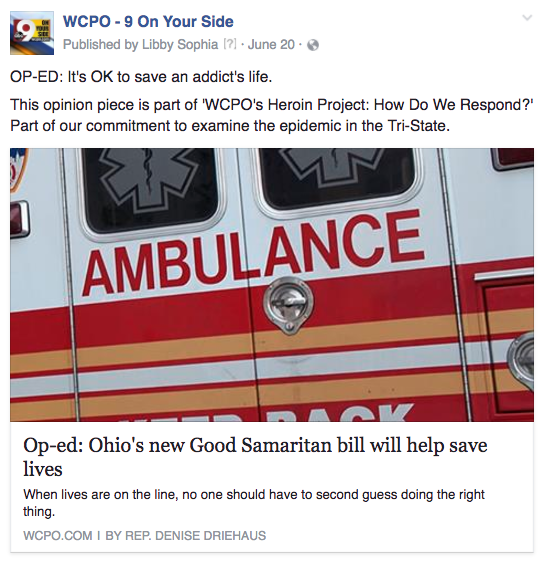 WCPO addicts 911