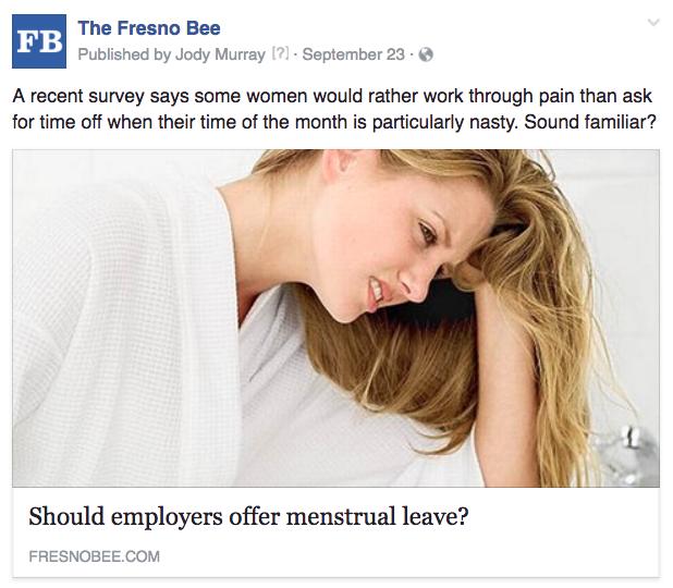 Fresno menstrual pain