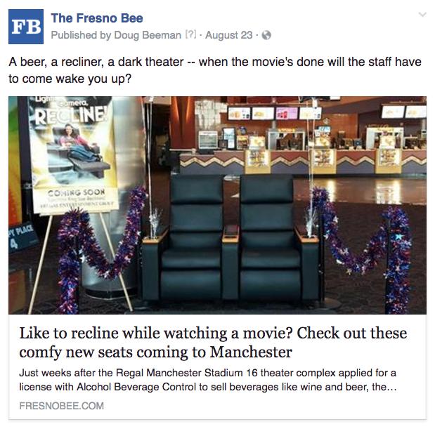 Fresno movie comfort