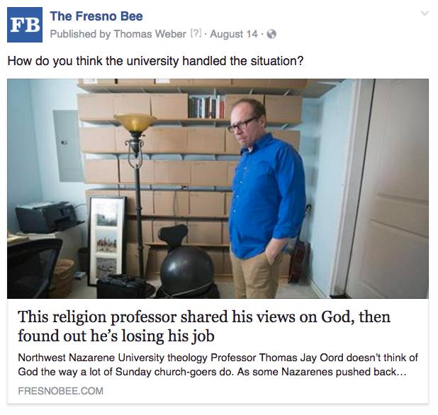 Fresno religion professor