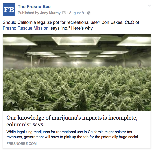 Fresno marijuana impact