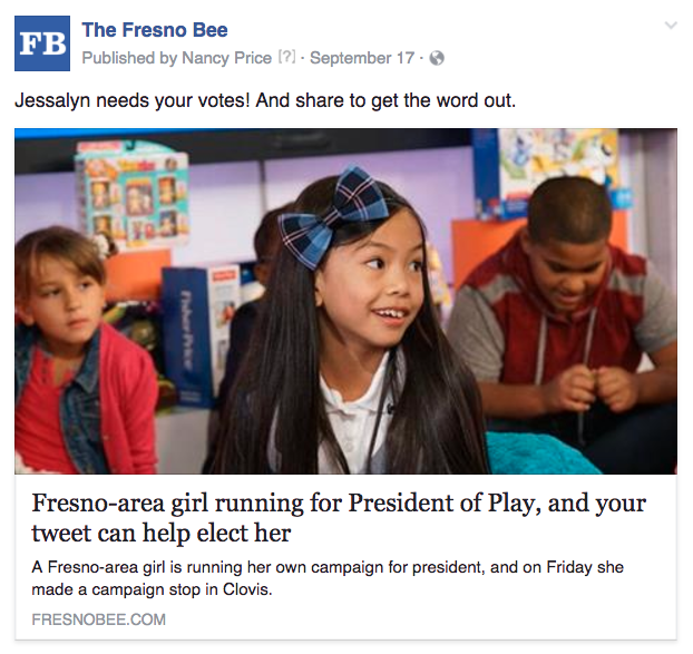 Fresno kid president tweet