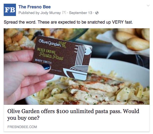 Fresno Olive Garden