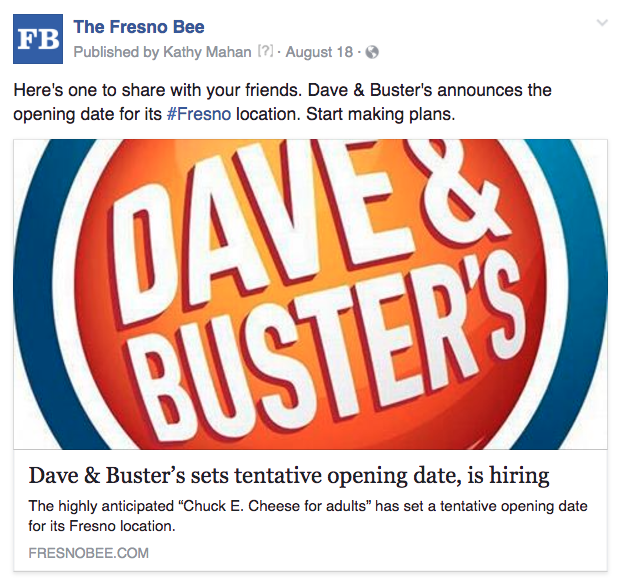 Fresno Dave and Busters