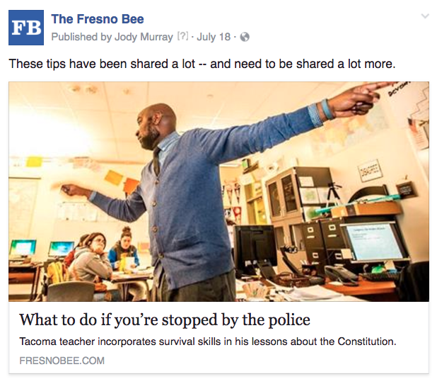 Fresno stopped by police