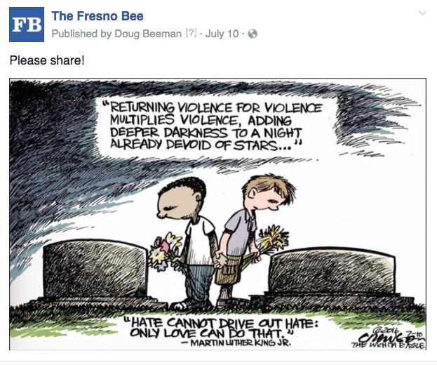 Fresno editorial cartoon violence