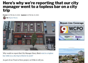 WCPO created a pro/con pull-out box on their website for a story to clearly show users both sides of a tax issue. By making it look different on their website they were able to drive users attention to it. The story outperformed in metrics compared to normal metrics for stories like this.