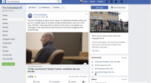 "When sharing a story about someone who died by suicide on Facebook, the Coloradoan used the post as a way to explain their approach to covering suicides. The Facebook post read: ""It's the Coloradoan's policy not to report on individual suicides unless the act is in a public place or involves a high-profile person, such as in this case. We felt it was important to report on this story to complete our coverage of the case and provide resources for those struggling with mental illness."" The news team did a good job responding to commenters in an appropriate tone and used national guidelines from the CDC to help explain their position."