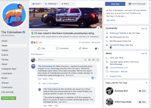 While sharing a crime story on Facebook, the Coloradoan received questions about how they approach covering crime stories. In the comments section of the Facebook post, the news organization explained their crime coverage policy and answered questions from users.