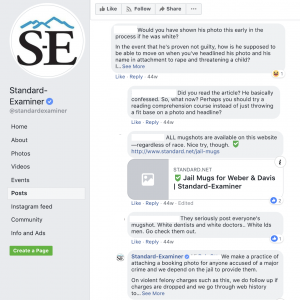 The Standard-Examiner explained how they approach including mugshots in their crime reporting after a question about the issue came up on Facebook.
