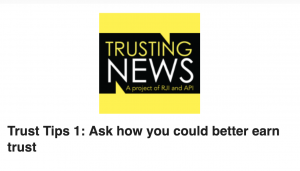 Trust Tips 1: Ask how you could better earn trust