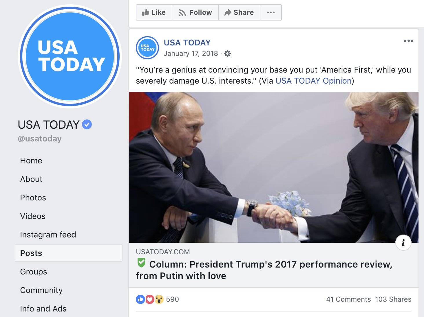Labeling Opinion Content on Facebook – Trusting News
