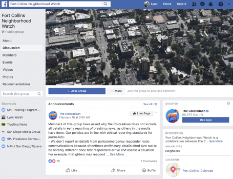 Creating Community by Creating a Facebook Group – Trusting News