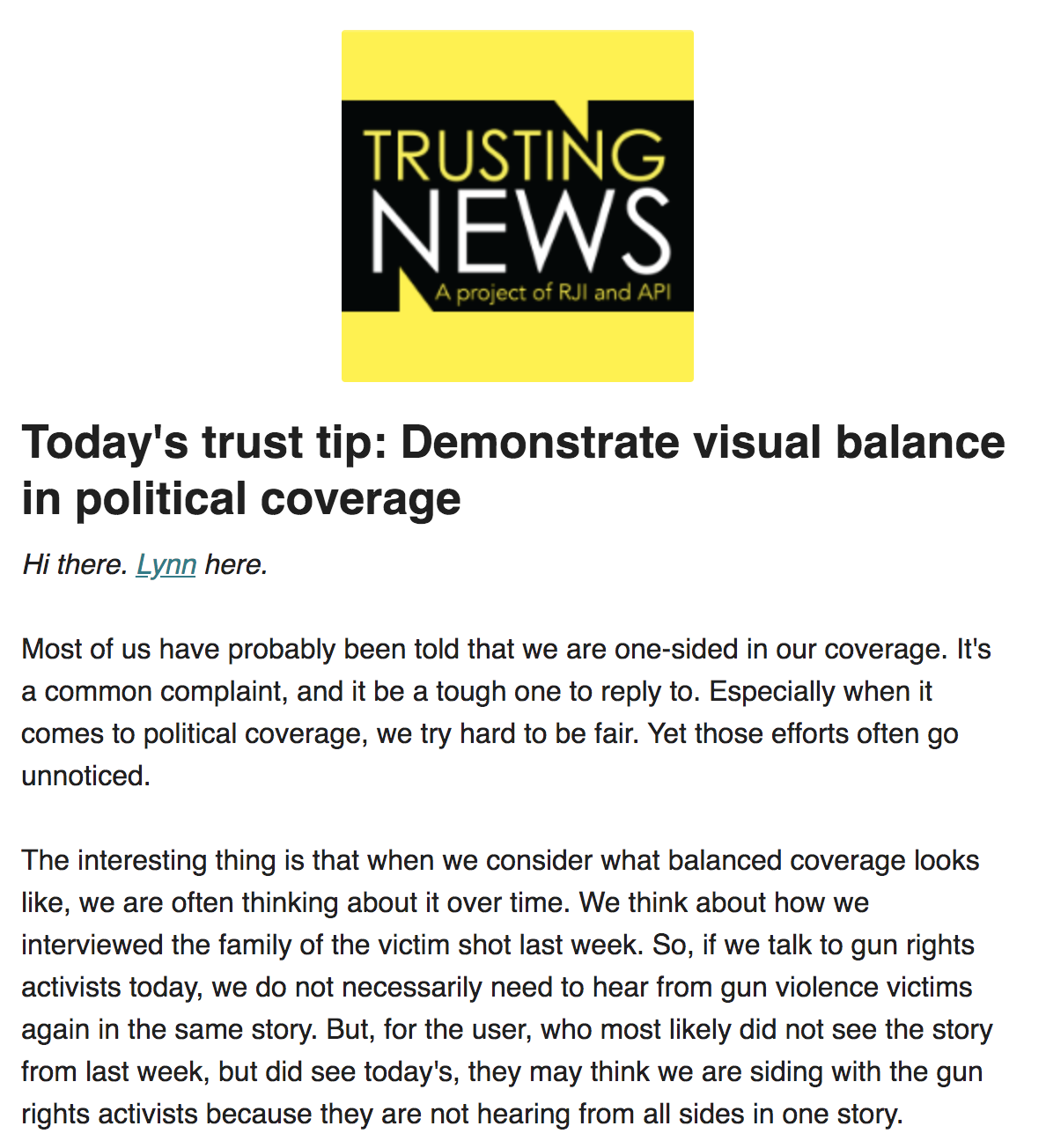 Fairness And Objectivity Trusting News